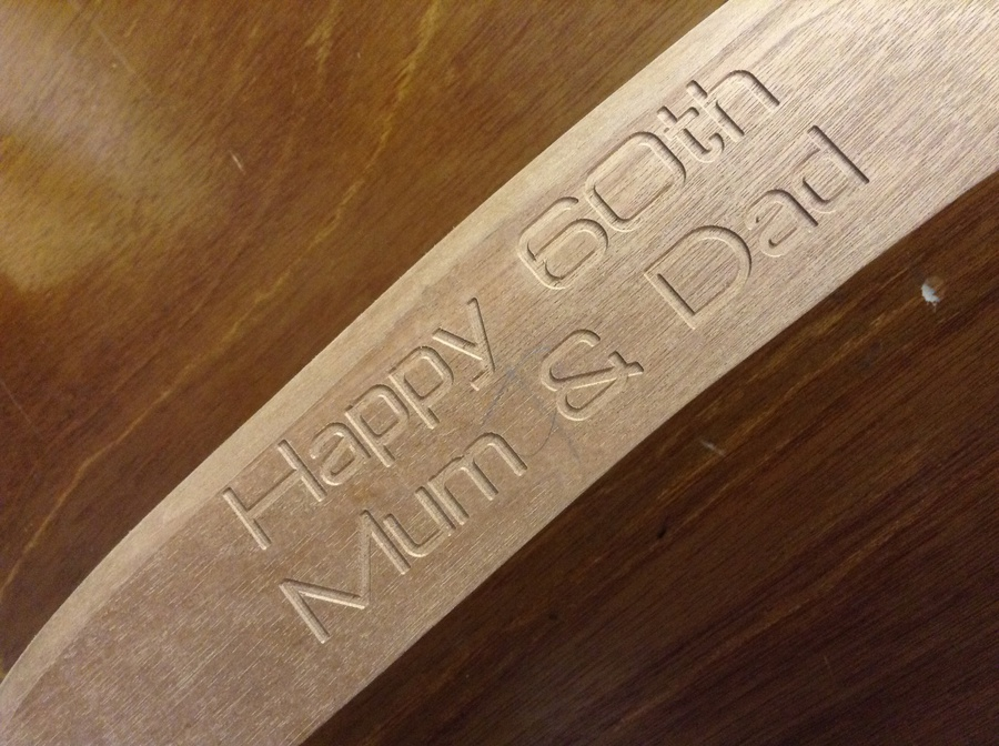 marlowe cleaners wood laser engraved in belfast to the highest standard